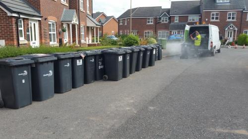 Residential bin cleaning