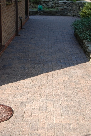 Block patio after