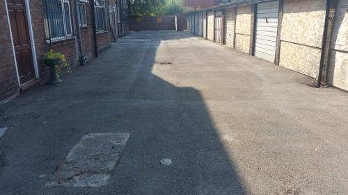 Car park tarmac moss removal