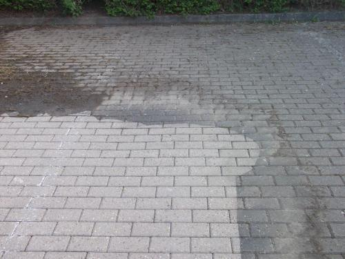 Block paved car park
