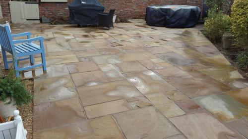 Sunken patio after repair