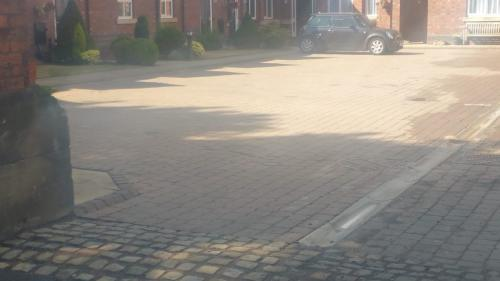 car park block paving clean.