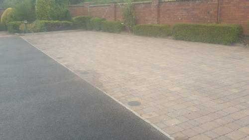 car park block paving clean