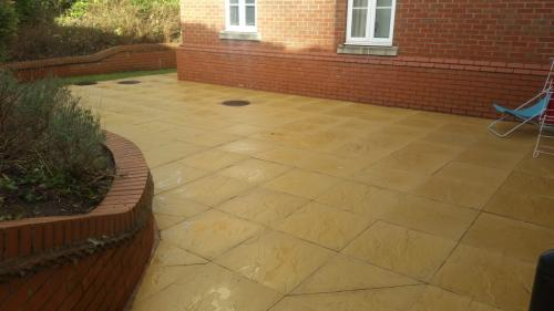 concrete type paving clean