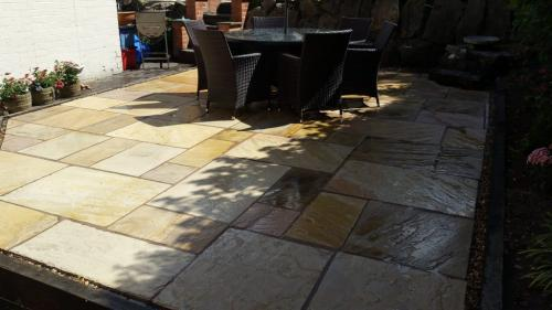 indian stone patio clean